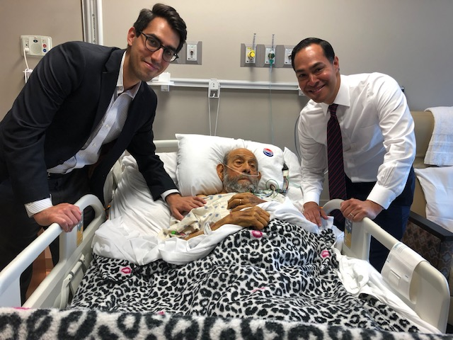 The day before his death Andy Sarabia received a visit from Julian Castro and his great nephew Alex Sarabia, a policy aide to Mayor Nirenberg.