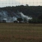 Star S Ranch sprays their fence line with pesticides last July.