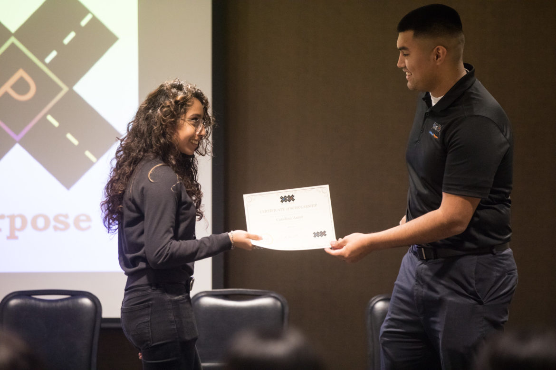 Scholarship winner Carolina Amor.