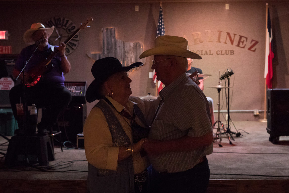 (From left) Sissy Wurz and Jerry Klaverweiden dance together to the music.