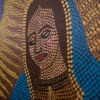 """A detail of the piece """"Our Lady of Guadalupe"""" by Tracy Biediger."""