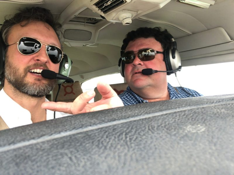 Brandon Seale and Alberto Múzquiz search for the Battle of Medina from above.
