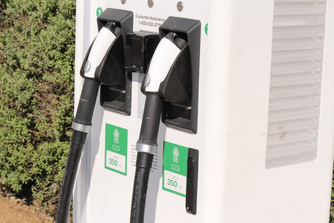 The charging station at Walmart on Thousand Oaks can fully charge an electric vehicle in less than one hour.