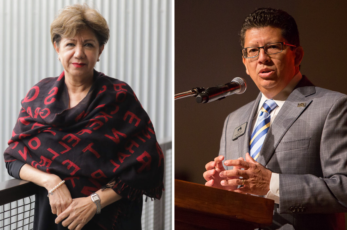 (left) San Antonio Hispanic Chamber of Commerce President Diane Sánchez and San Anctonio Chamber of Commerce President Richard Perez signed a letter to Congress calling for an end to the border delays disturbing trade.