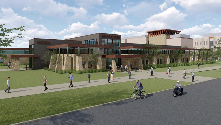 The Recreation and Athletics Center at TAMUSA will have an arena for basketball and volleyball.