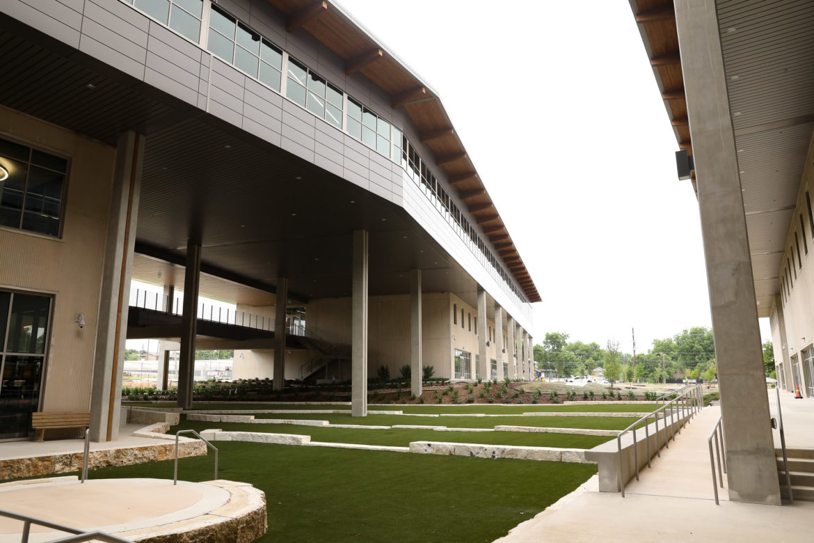 The amphitheater at the Alamo Colleges District Headquarters.