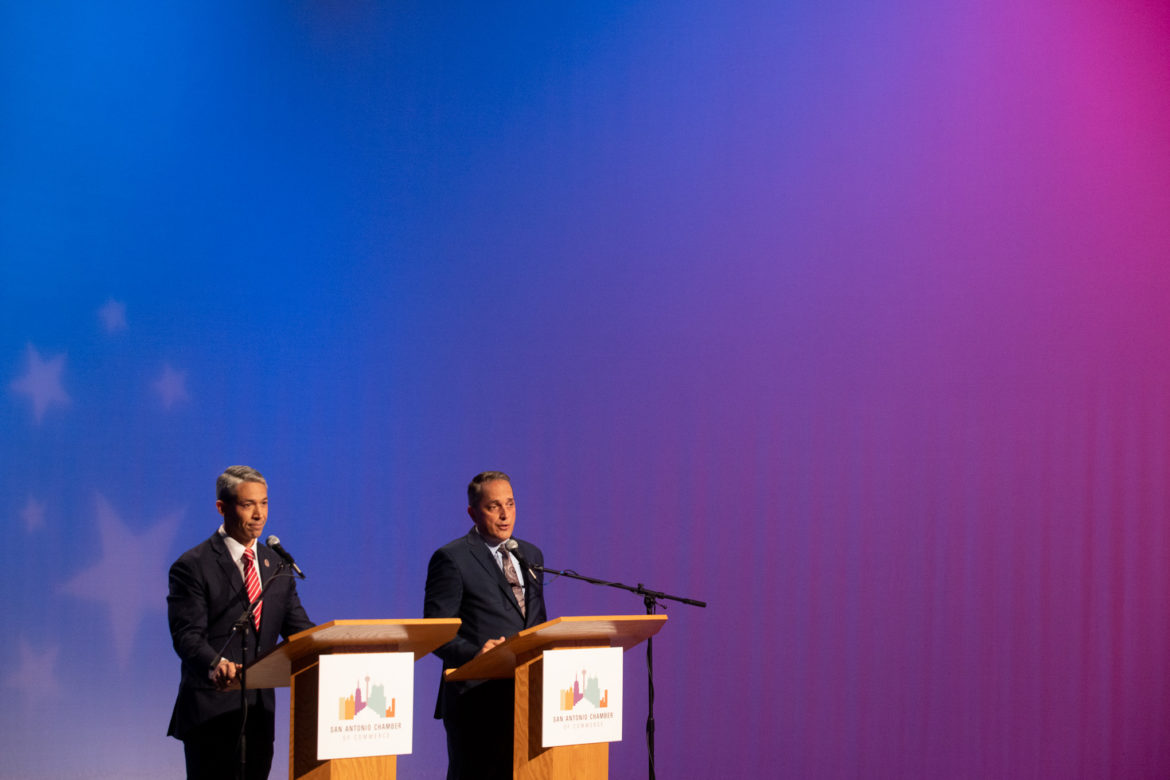 Mayor Ron Nirenberg and Councilman Greg Brockhouse (D6) participate in their final debate on KLRN seeking the office of Mayor in the upcoming election.