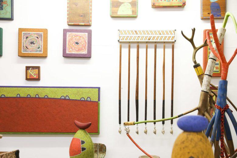 Work lines the studio walls of Danville Chadbourne.