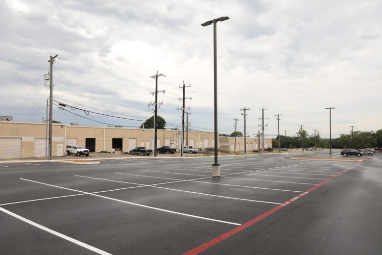This office park surface lot near the Medical Center will house a 632 kilowatt solar system that covers 203 parking spaces
