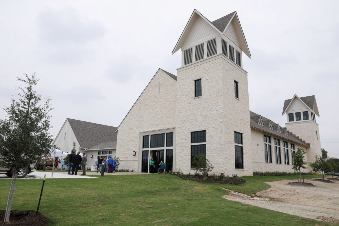 The new place of worship at Sutherland Springs First Baptist Church.