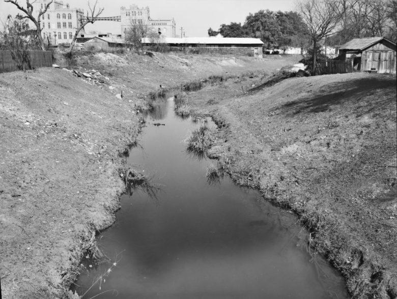 The San Antonio River near the San Antonio Museum of Art in 1966.