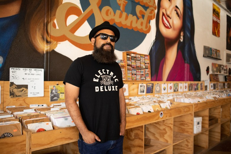 Rapper Mexstep stands for a portrait at Friends of Sound.