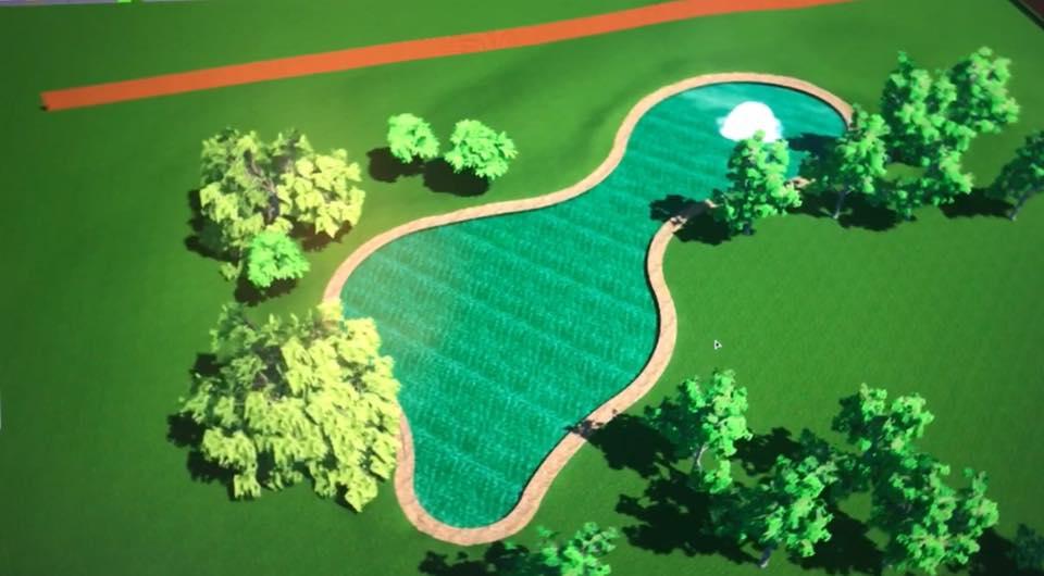 A draft of Eden Duck Pond pending engineering oversight.