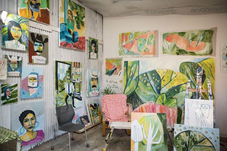 The interior of Burnt Nopal, Cruz Ortiz's studio.