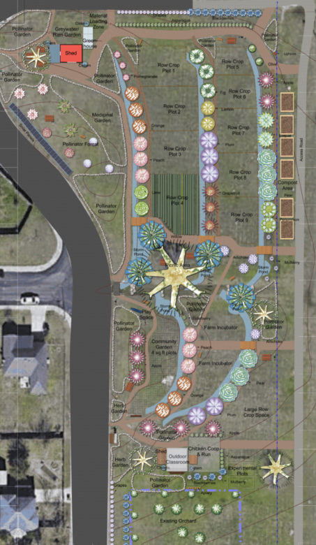 This rendering shows what the future of the Martinez Street Urban Farm could look like.