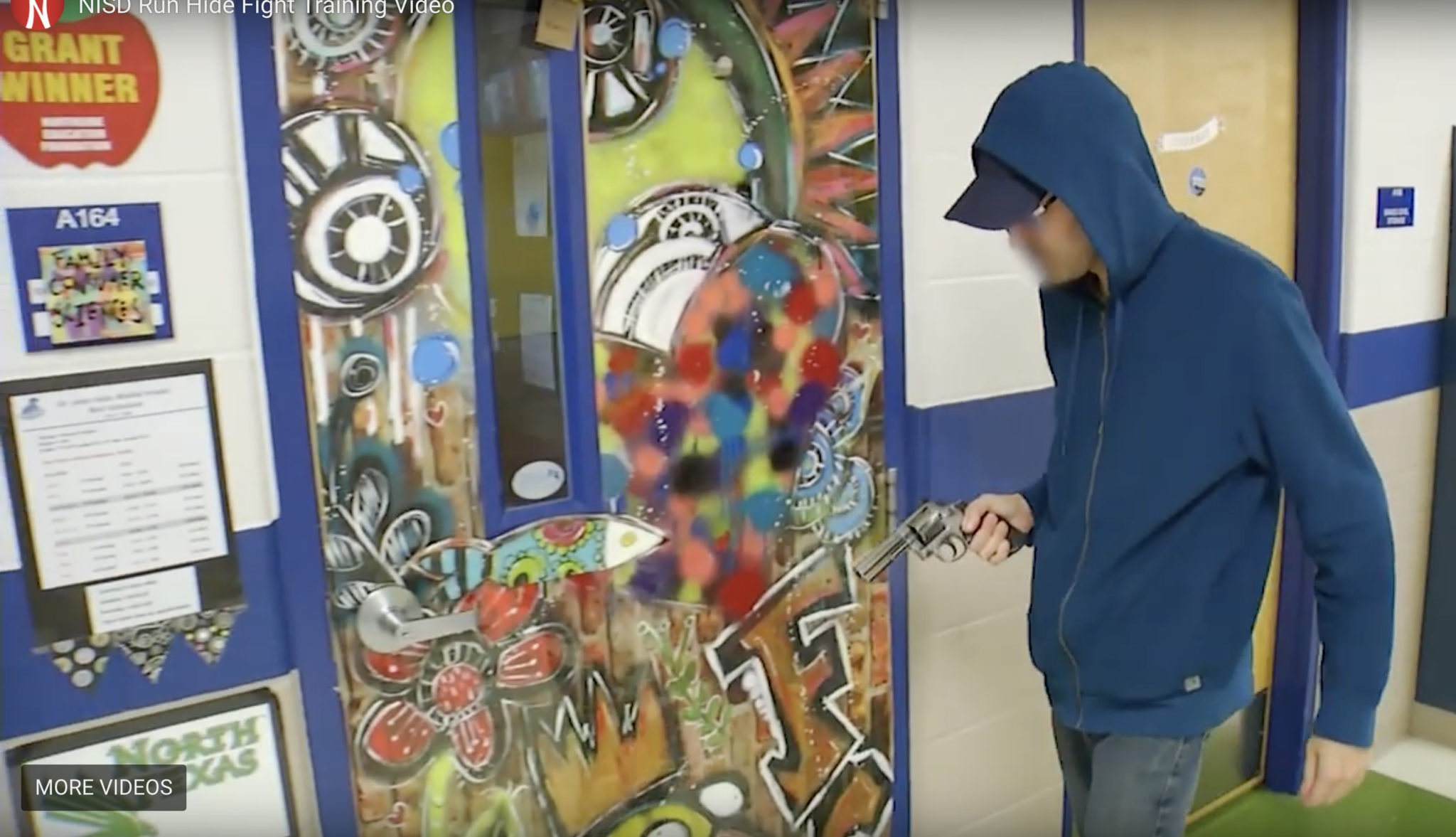 A training video from NISD demonstrates to students, faculty, and staff how to to run, hide, or fight during an active shooter situation.