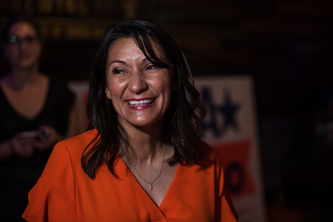 Melissa Cabello Havrda enjoys an early lead in the District 6 runoff.