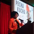 Paula Gold-Williams is the President & CEO of CPS Energy speaking at Pecha Kucha San Antonio 34 at La Villita on June 11, 2019.