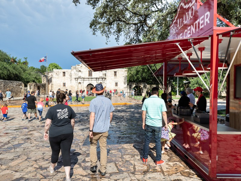 The Alamo Welcome Center greets guests and schedules tours on June 24, 2019.