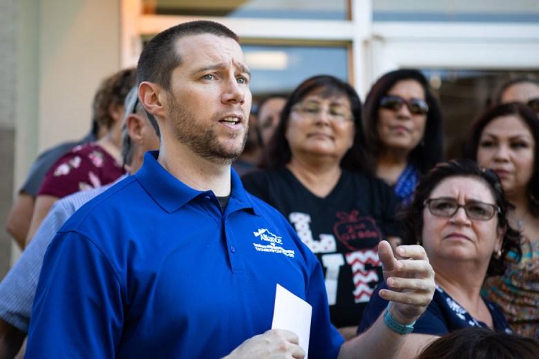 Luke Amphlett, social studies teacher at Burbank High School.