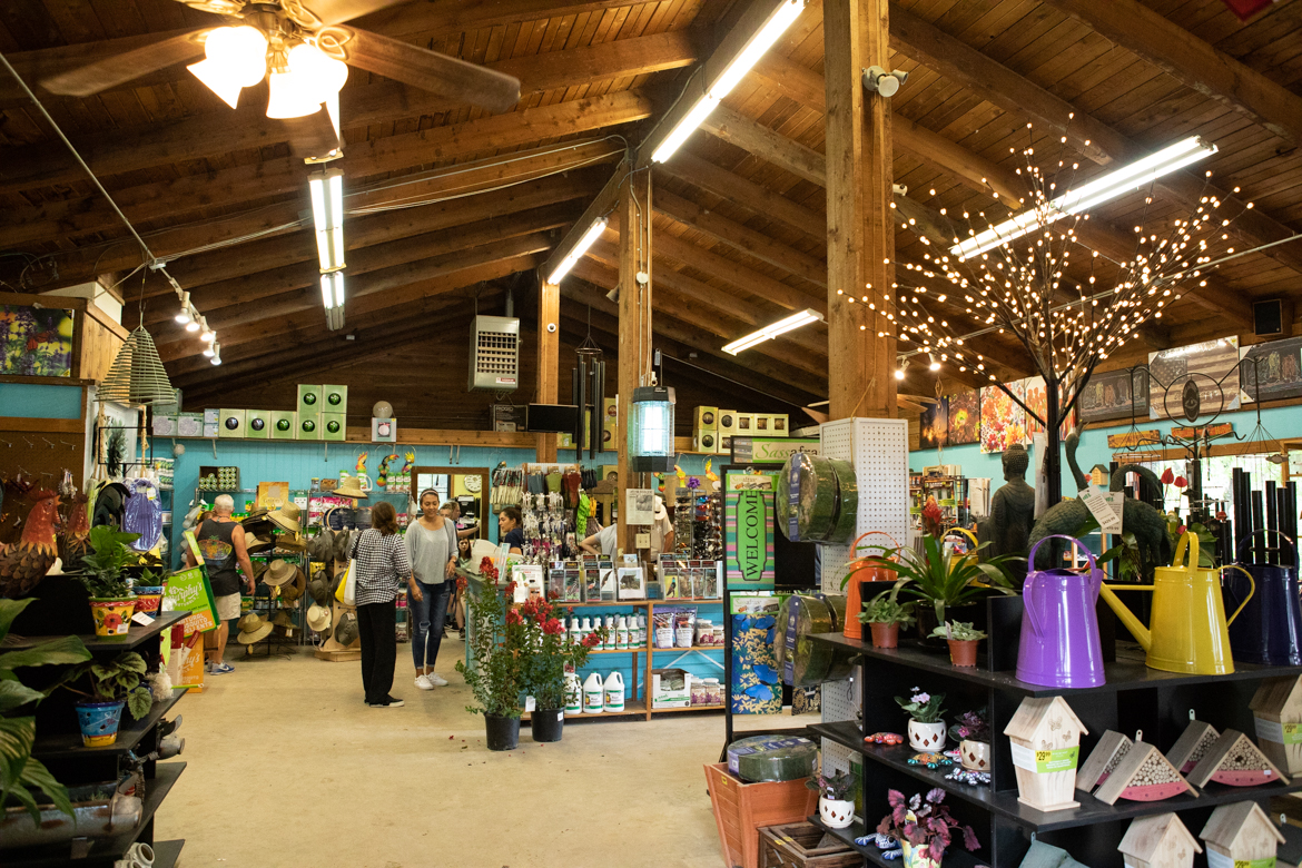 The interior store at Milberger's Landscaping And Nursery.