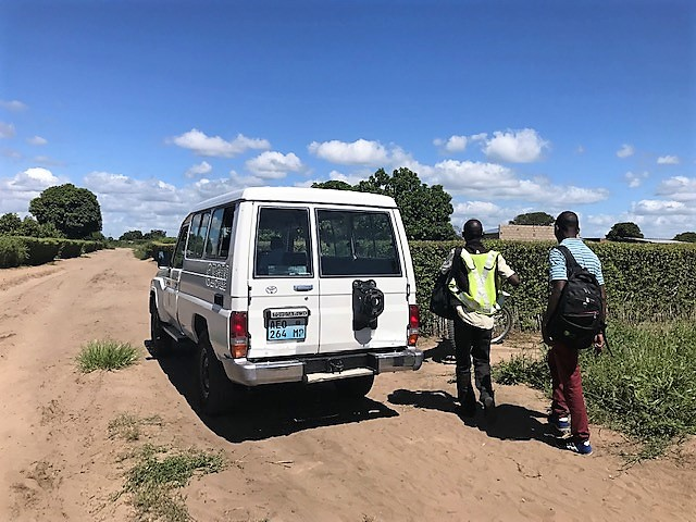 Field trip going house by house to capture cases of TB and/or HIV. In the picture the TB program coordinators of the Centro Investigação em Saúde de Manhiça (CISM) in Manhiça, Mozambique on January 25th, 2019.