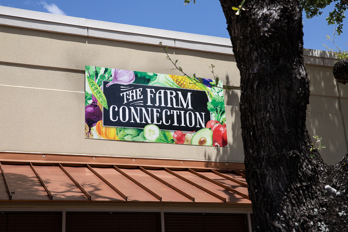 The Farm Connection grocery store sells locally grown organic products on July 1, 2019.