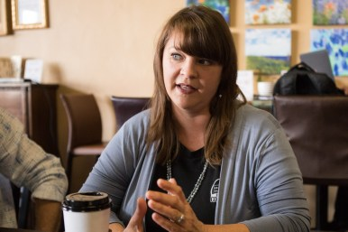 Court Street Coffee Shop owner Heather Felty.