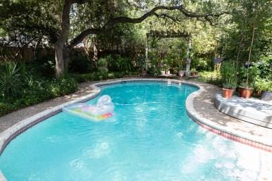 The Kleins' swimming pool.