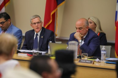 (left) State Rep. Phil King (R-Weatherford) is the Texas House Committee on Redistricting chair.
