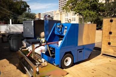 A small ice resurfacer will keep the ice smooth for skaters.