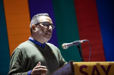 """Jon Hinojosa, SAY Sí executive director, (pictured here) along with Kathy Armstrong, outgoing director of Luminaria, Mary Heathcott, executive director of Blue Star Contemporary, and Elyse Gonzalez, the new curator of Ruby City, drafted a letter to Mayor Ron Nirenberg and City Council on June 2 titled """"Creativity Counts."""""""