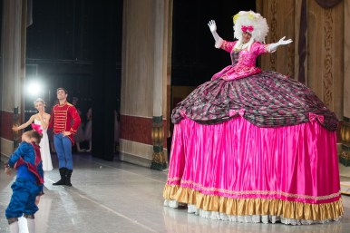 Graham Watson-Ringo performs as The Nutcracker character Mother Ginger.
