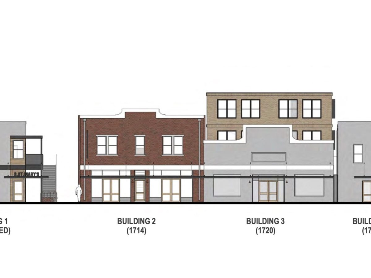 The mixed-use development at 1714 S. Saint Mary's St. was approved by the Historic and Design Review Commission on Dec. 18, 2019.