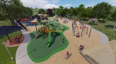 The proposed Mitchell Chang Foundation playground