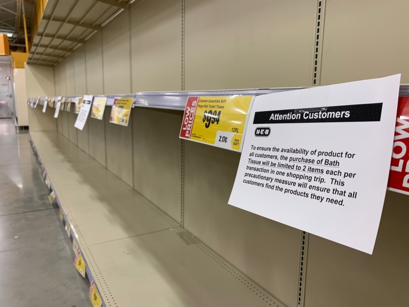 Concern over the coronavirus has led to panic shopping at retail stores. H-E-B is urging customers not to worry amid the crisis, and products will be restocked within 24 hours.