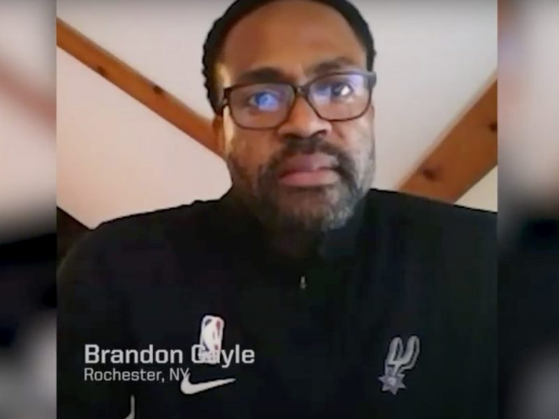"Spurs executive vice president Brandon Gayle appears on the ""Spurs Voices"" web video series, which explores how racism has affected the Spurs organization."