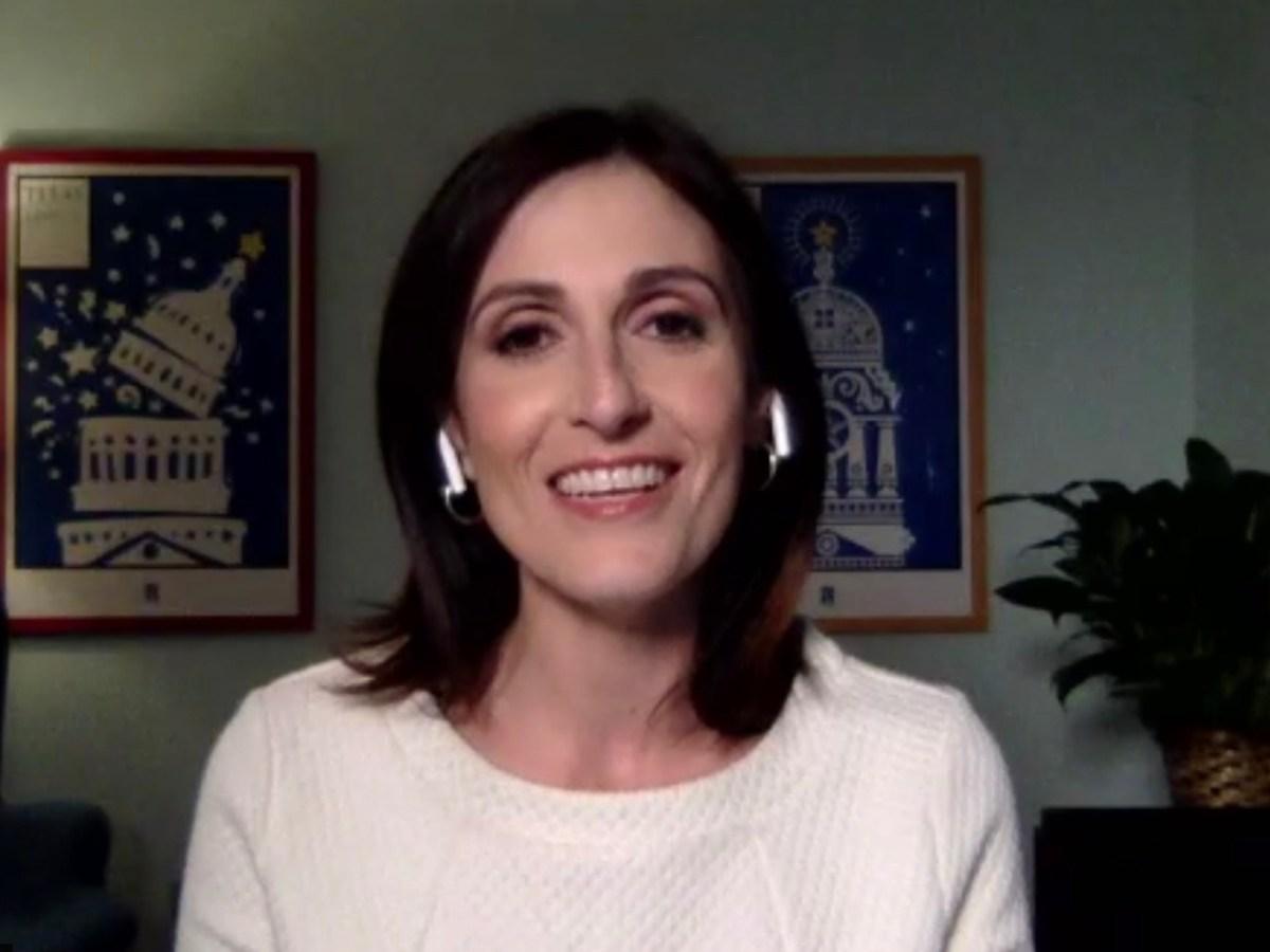 Keynote speaker Victoria DeFrancesco Soto, assistant dean at the LBJ School of Public Affairs in Austin.