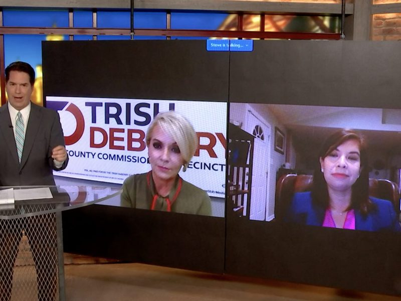 County commissioner candidates for Precinct 3 Republican Trish DeBerry and Democratic Christine Hortick squared off during a one-hour livestreamed forum hosted by KSAT.