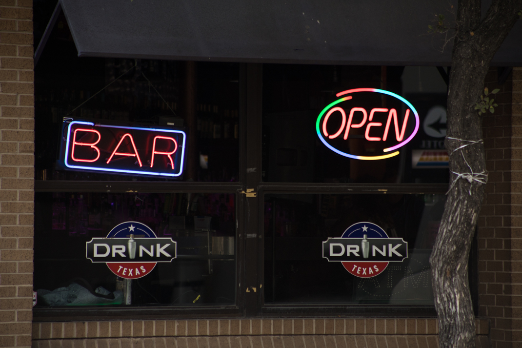 Drink Texas Bar is located at 200 Navarro St.