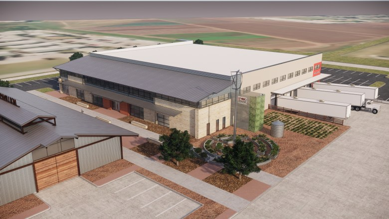 A rendering of San Antonio Food Bank's under-construction Culinary Center set to be completed in April.