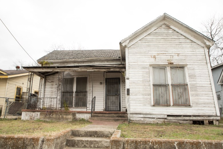 District 5 Shotgun House Rehabilitation Pilot Project and an overview of the Office of Historic Preservation Shotgun House Initiative. Photos taken on January 11, 2021.