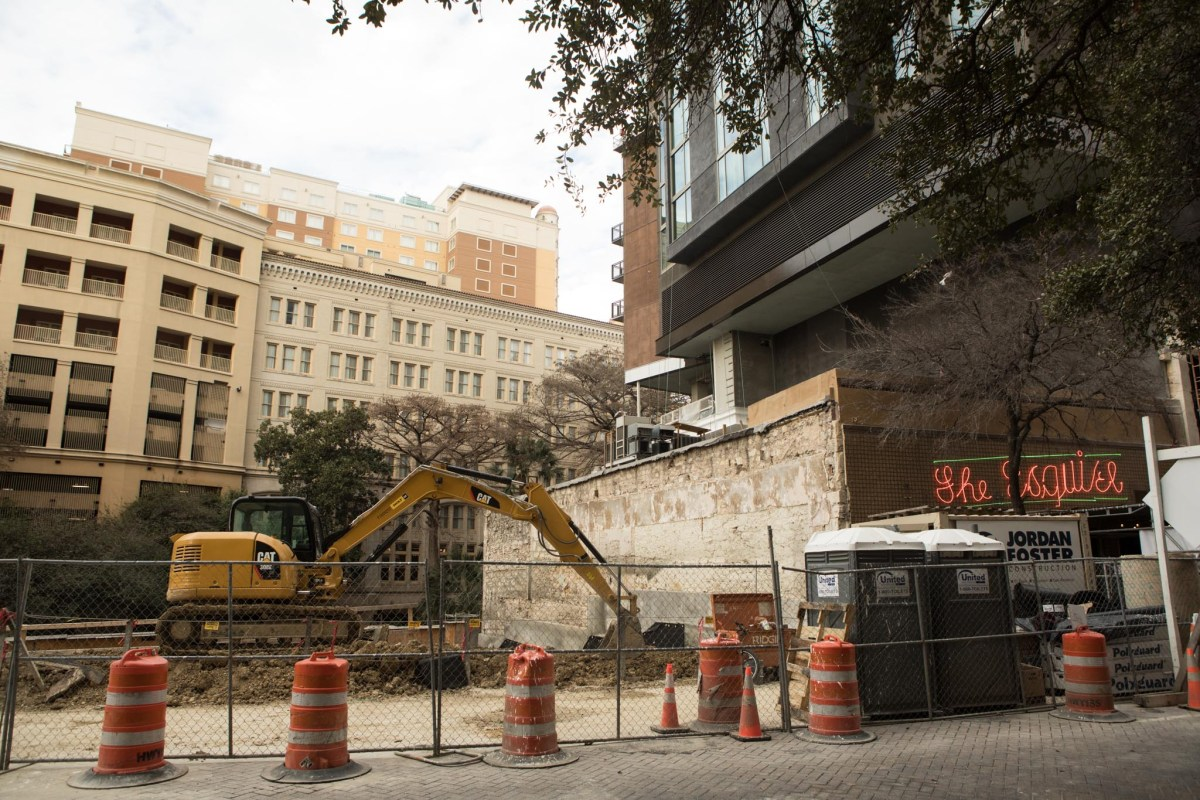 The Floodgate residential tower site is cleared for the construction of a 16-story building.