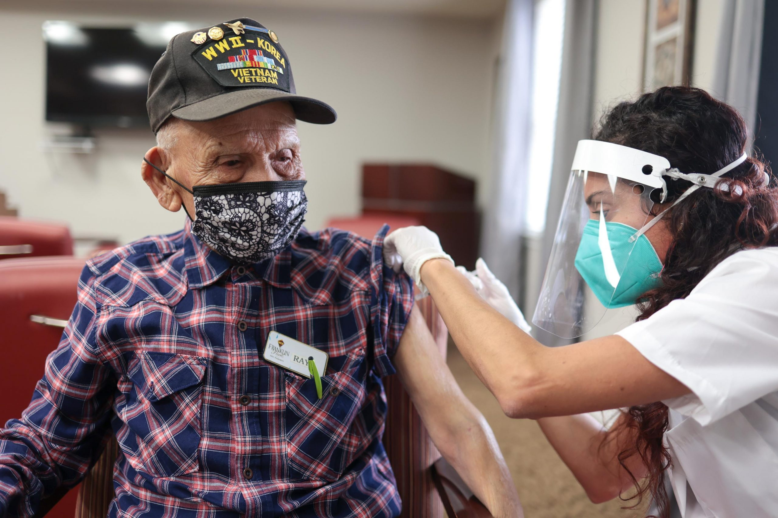 Long-term care facility residents begin receiving second doses of COVID-19 vaccination