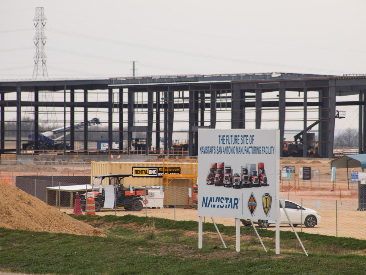 Truck manufacturer Navistar International is building a massive plant near Mitchell Lake on the city's South Side. Photos taken on February 12, 2021.