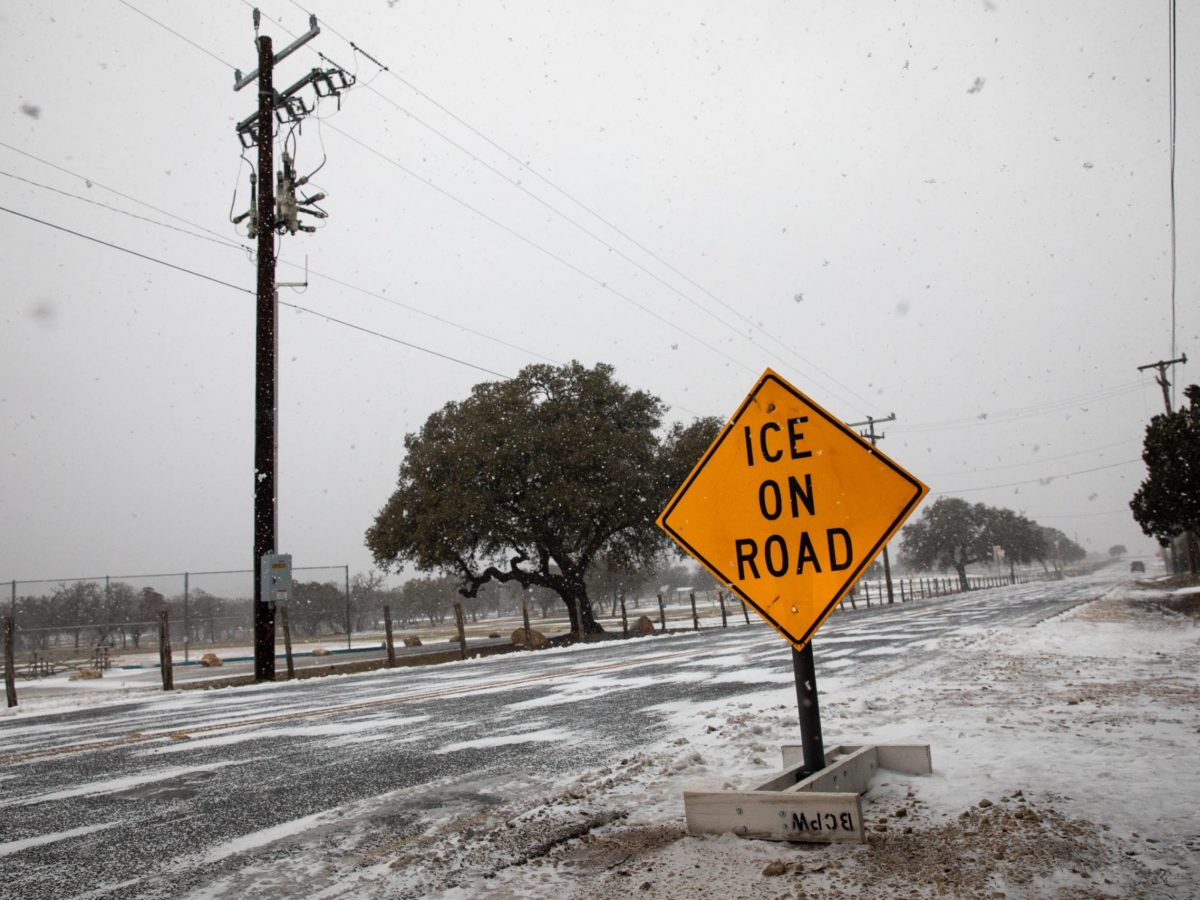 A scene from North Bexar County in February as snow fell throughout the San Antonio area.