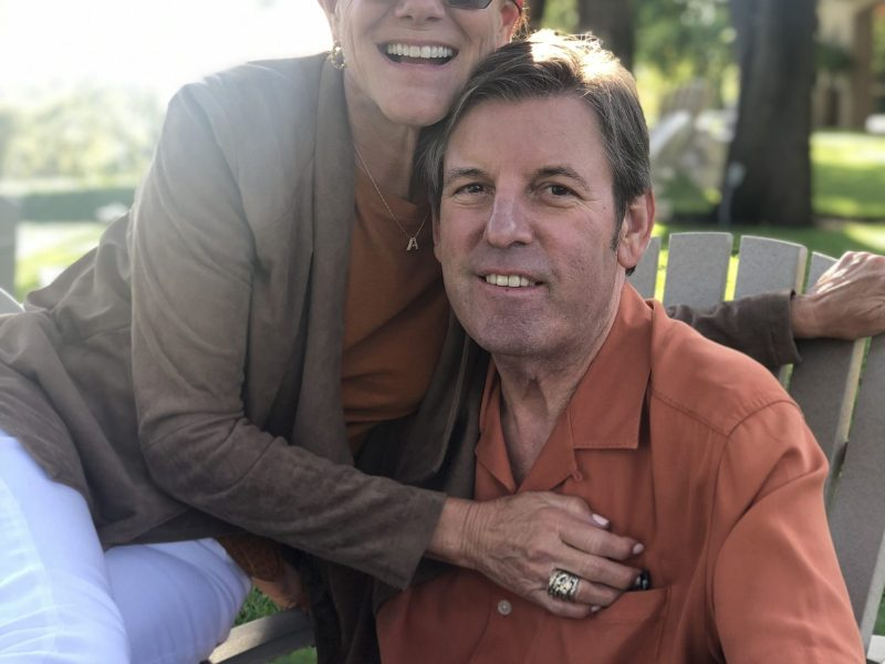 Stuart Cavender (right) and his wife Allyson Cavender.