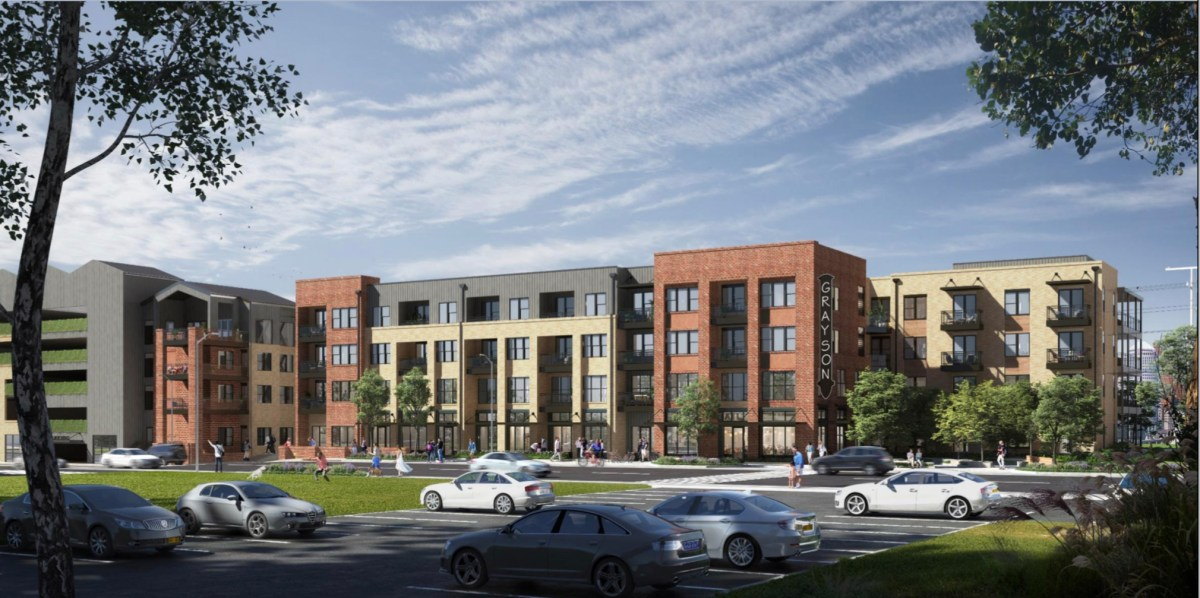 A rendering of the future residential development approved for the Government Hill neighborhood.