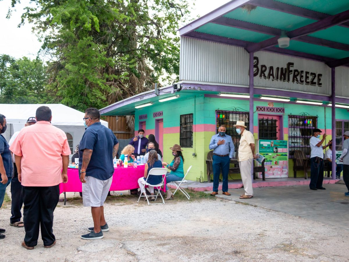 "A District 5 outdoor ""meet and greet"" hosted council candidates at the family-owned business Brainfreeze last week."