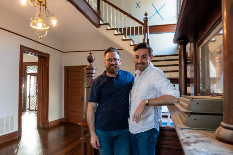 Levi Stoneking and Jimmy Moore are still making numerous renovations to their 20th century home after taking over from the previous tenants, the Malones, who are friends of theirs.